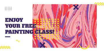 Free painting class poster