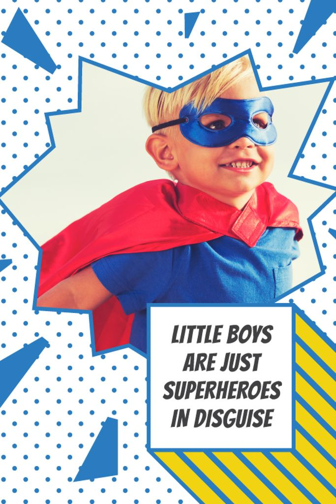Kid in superhero costume — ein Design erstellen
