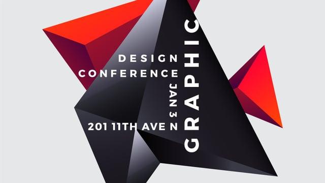 Plantilla de diseño de Design Conference announcement on Digital Elements FB event cover
