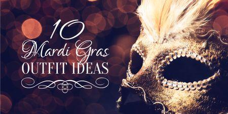 Mardi Gras carnival mask Image Modelo de Design