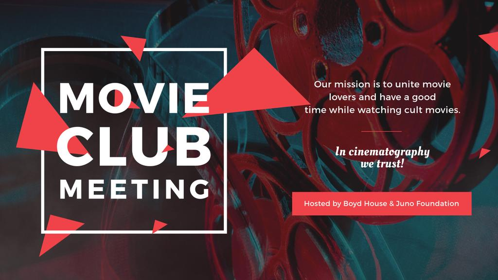 Movie Club Meeting Vintage Projector | Youtube Channel Art — Create a Design