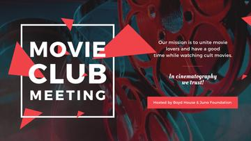 Movie Club Meeting Vintage Projector | Youtube Channel Art