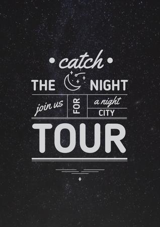 Plantilla de diseño de Night city tour Offer Poster