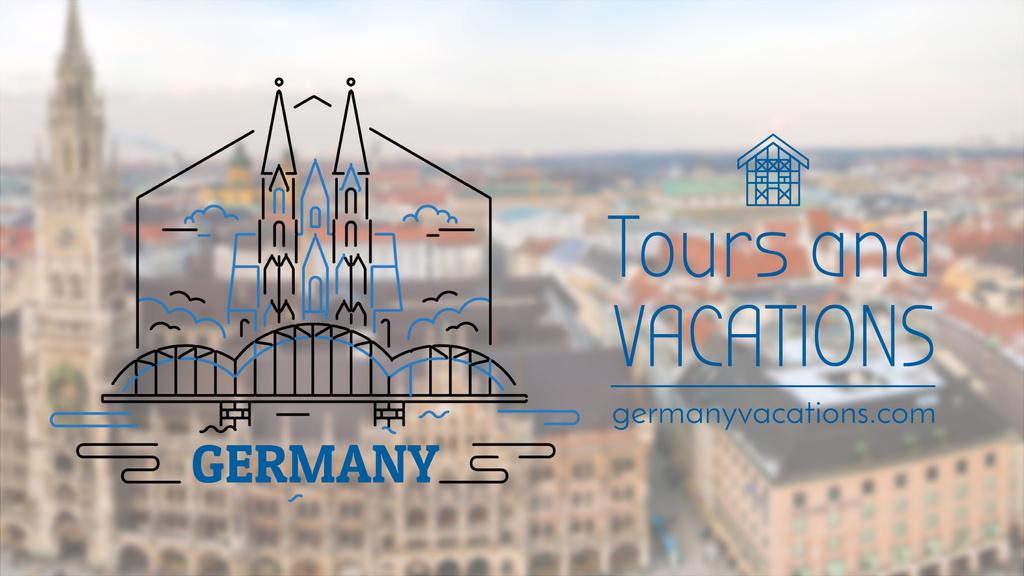 Tour Invitation Germany Famous Travelling Spots — Створити дизайн