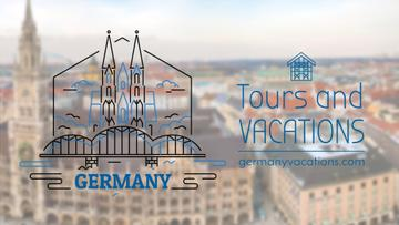 Tour Invitation Germany Famous Travelling Spots | Full Hd Video Template