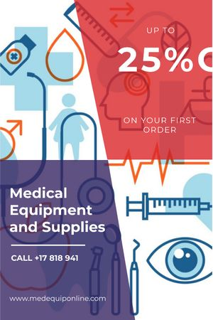 Ontwerpsjabloon van Tumblr van Medical equipment and supplies ad