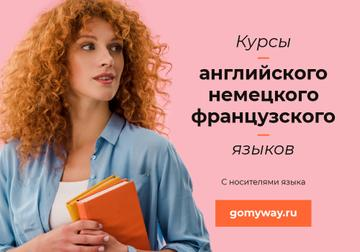 Language Lessons Promotion Girl with Books