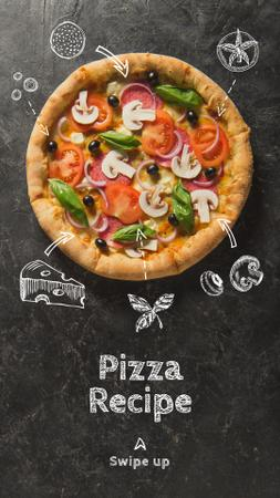 Modèle de visuel Delicious Italian Pizza menu - Instagram Story