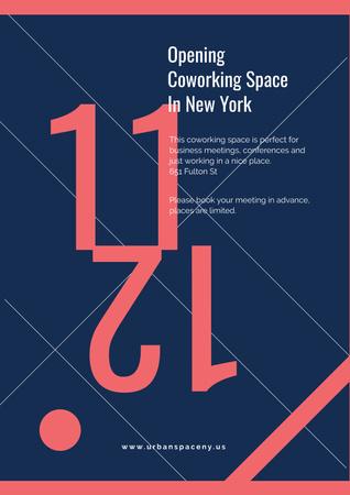 Plantilla de diseño de Opening coworking space announcement Poster