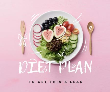 Template di design Professional Diet Plan ad Facebook