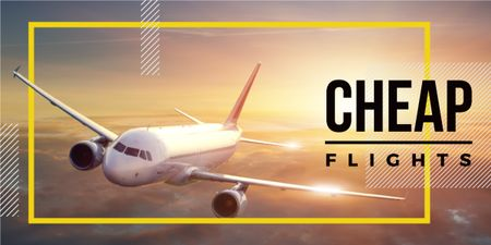 Cheap flights advertisement poster  Image Modelo de Design