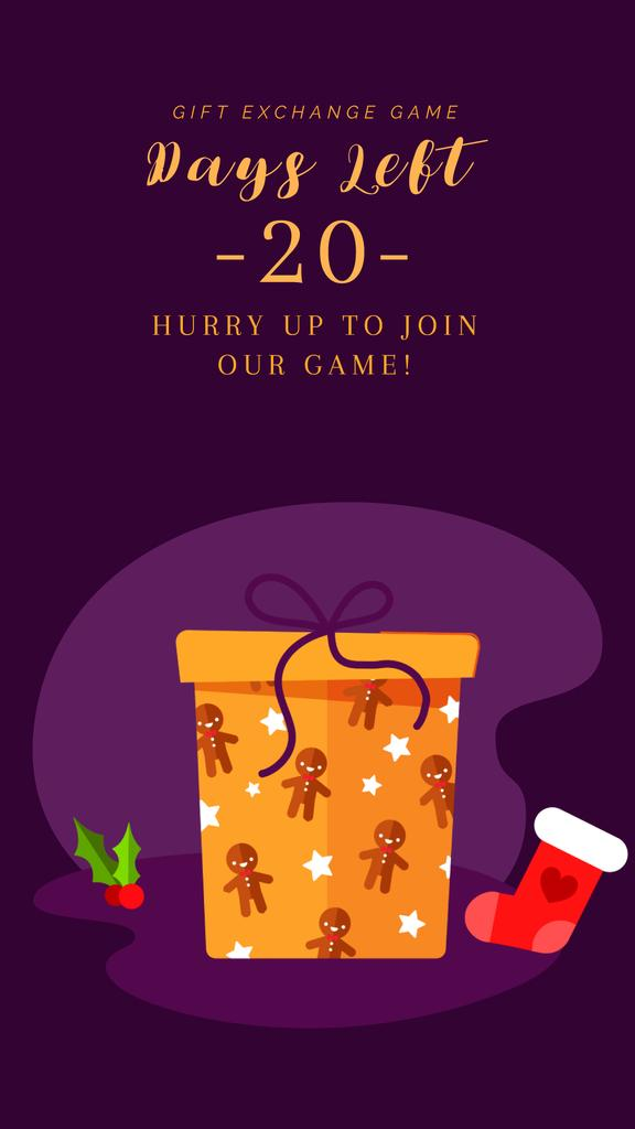 Christmas Greeting with Gift Box | Vertical Video Template — Maak een ontwerp