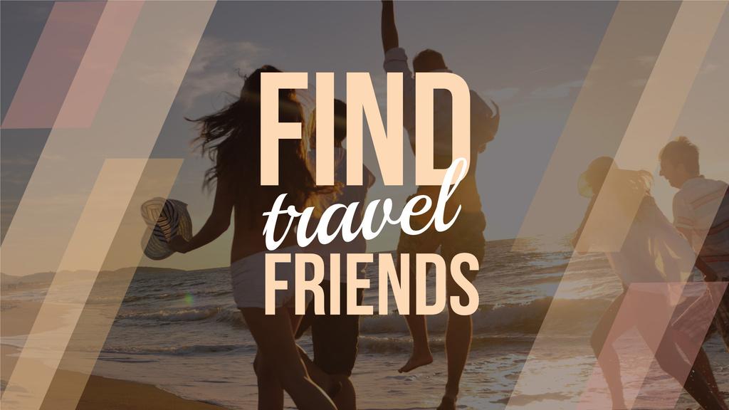 Find travel friends banner — Створити дизайн