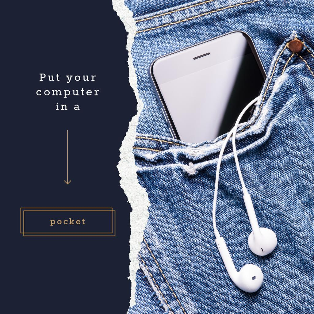Smartphone in jeans pocket — Crea un design