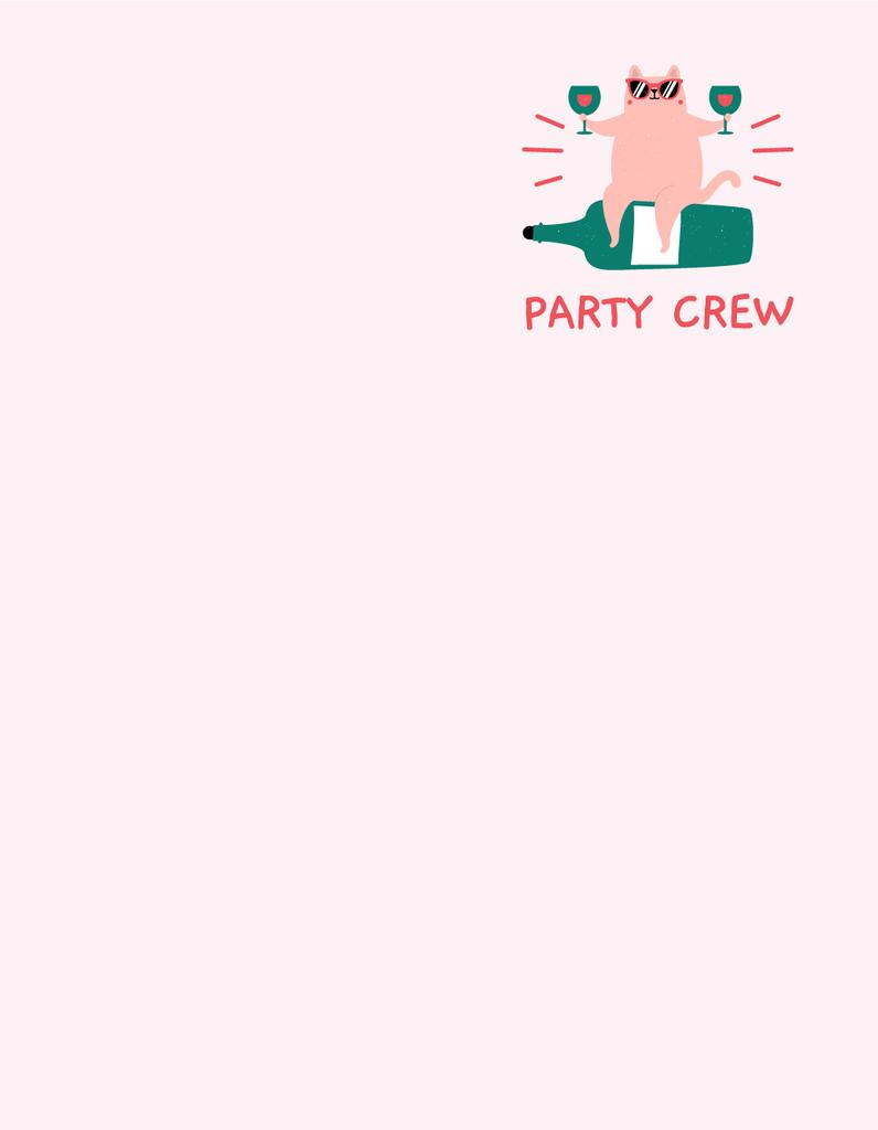 Party Cat in Sunglasses sitting on Bottle of Wine — Crear un diseño