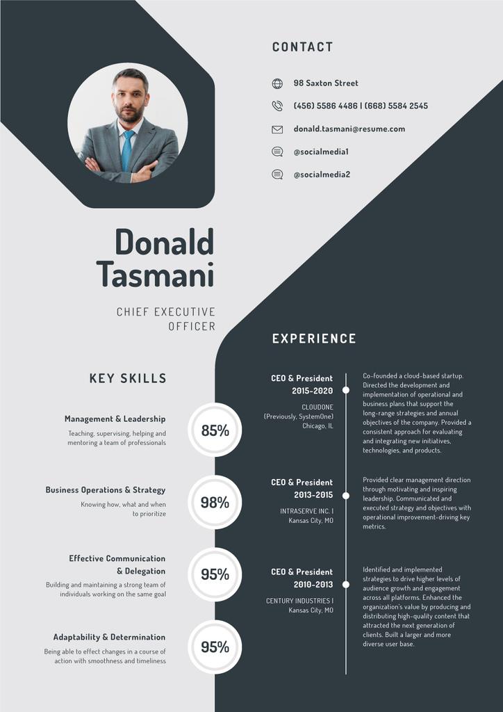 Chief Executive Officer Professional profile — Maak een ontwerp