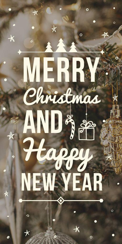 Decorated Christmas tree — Créer un visuel