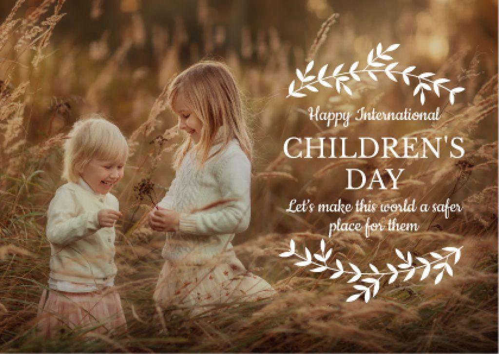 International Children's Day — Créer un visuel