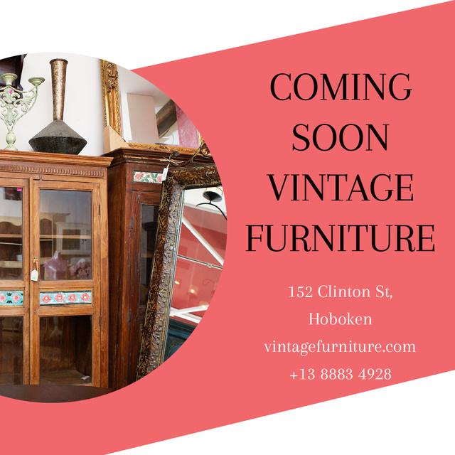 Vintage Furniture Shop Ad Antique Cupboard Instagram AD Tasarım Şablonu