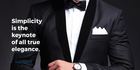 Elegance Quote Businessman Wearing Suit Image – шаблон для дизайна