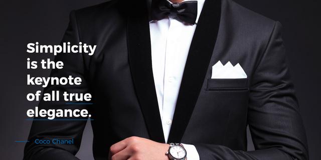 Simplicity is the keynote of all true elegance poster Image – шаблон для дизайну