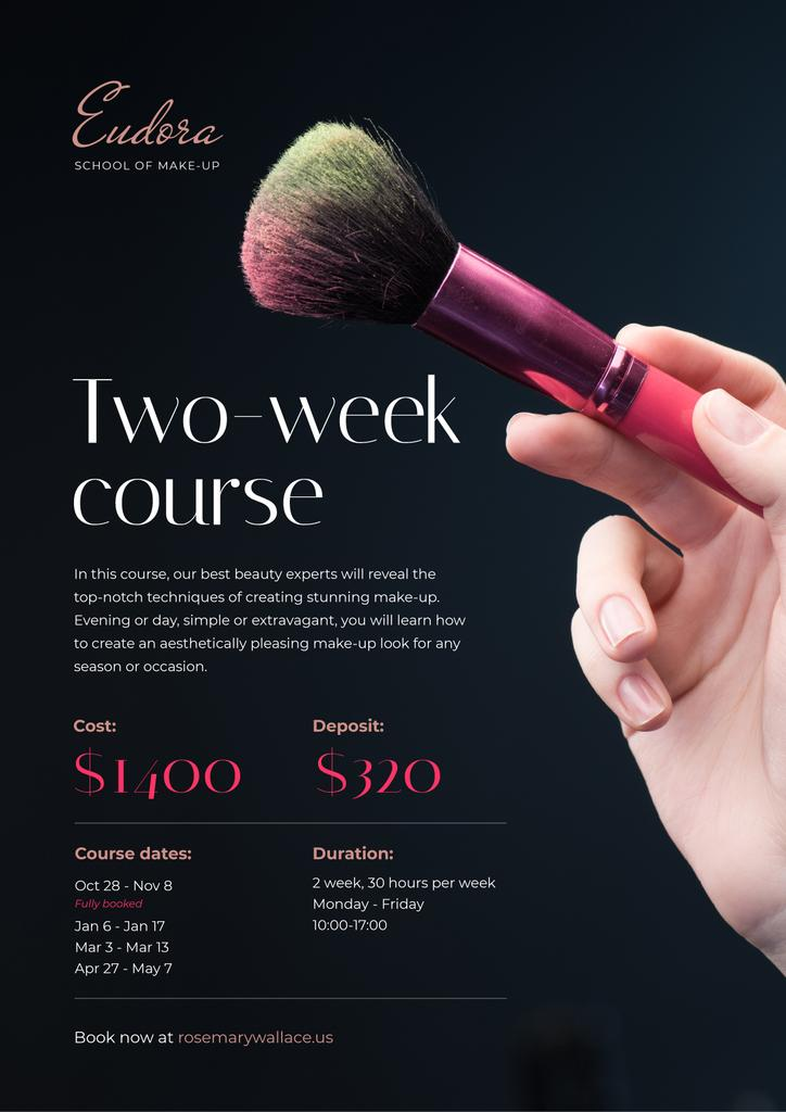 Makeup Courses Promotion with Hand with Brush — Crear un diseño