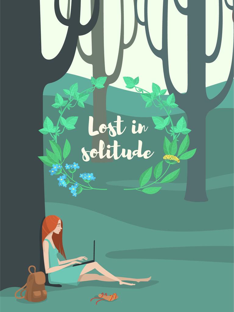 Lost in solitude illustration  — Crear un diseño
