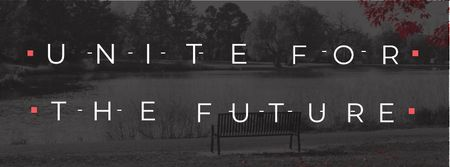Plantilla de diseño de Concept of Unite for the future Facebook cover