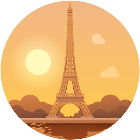 Ontwerpsjabloon van Animated Post van Paris famous travelling spot