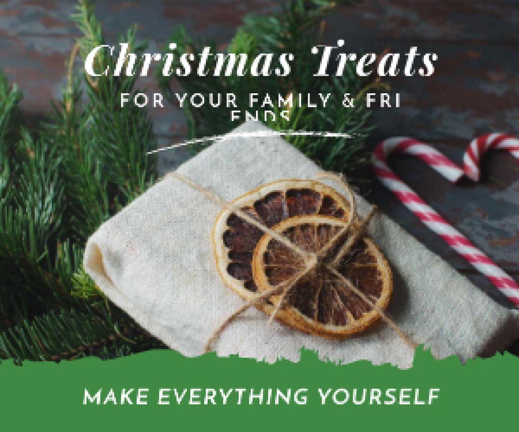 Designvorlage Christmas gift box für Medium Rectangle
