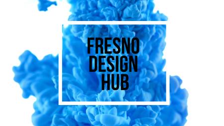 Frame on Blue Ink Splashing in Water Full HD video Modelo de Design