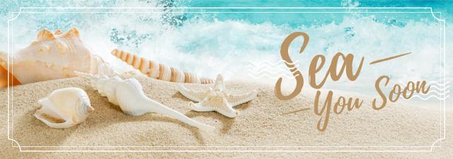 Modèle de visuel Travelling Inspiration with Shells on Sand - Tumblr