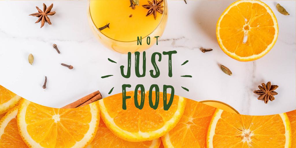 Fresh oranges and spices drink — Créer un visuel