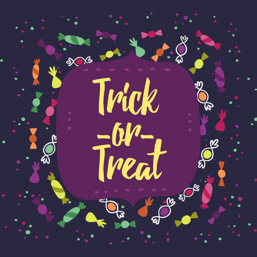 Halloween frame with sweets — Maak een ontwerp
