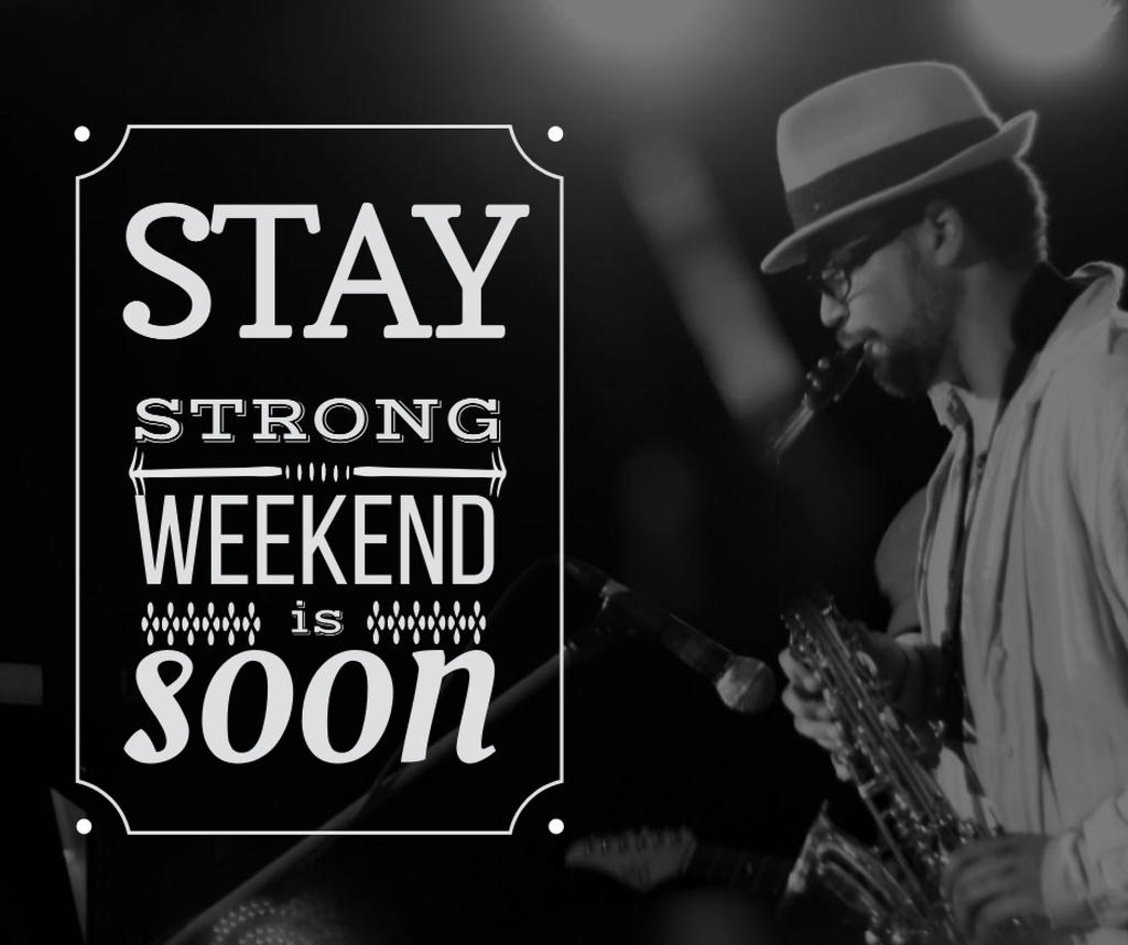 Modèle de visuel Jazz Musician playing Saxophone on Weekend - Facebook