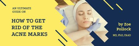 Plantilla de diseño de Acne Treatment with Woman at Beauty Procedure Email header