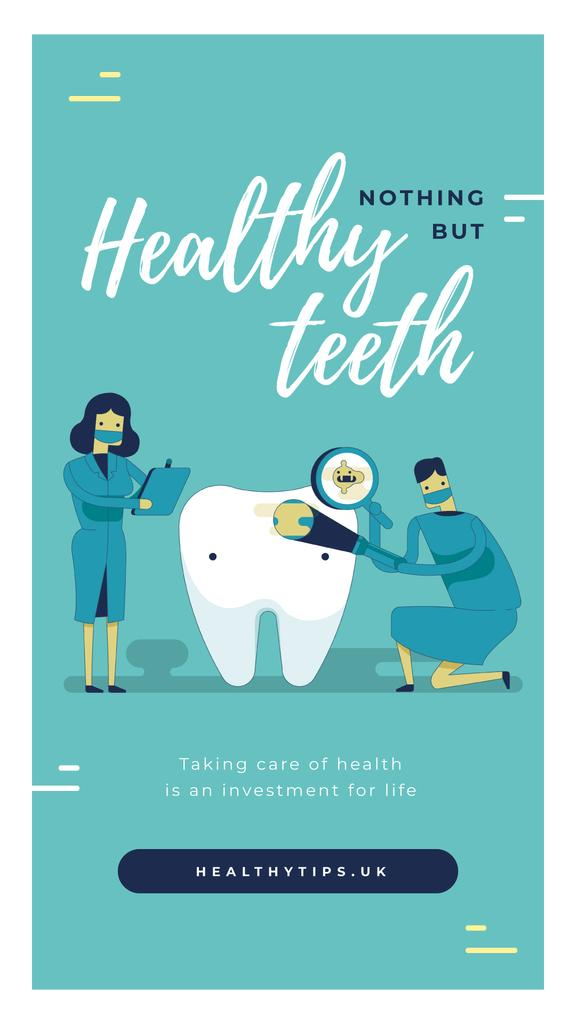 Dentists checking tooth — Crear un diseño