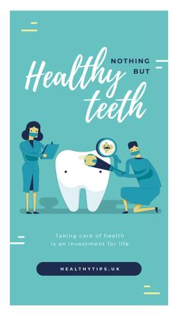 Plantilla de diseño de Dentists checking tooth Instagram Story