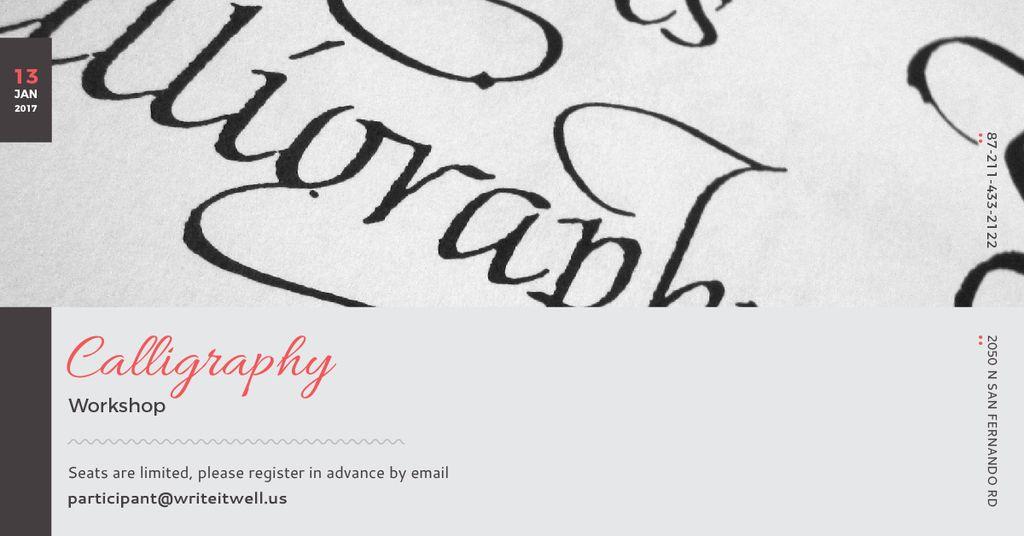 Calligraphy workshop Annoucement — Créer un visuel