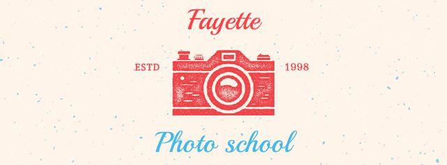 Ontwerpsjabloon van Facebook Video cover van Photo School Ad Stamp of Camera