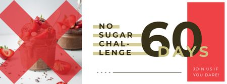 Plantilla de diseño de Chocolate dessert with berries Facebook cover