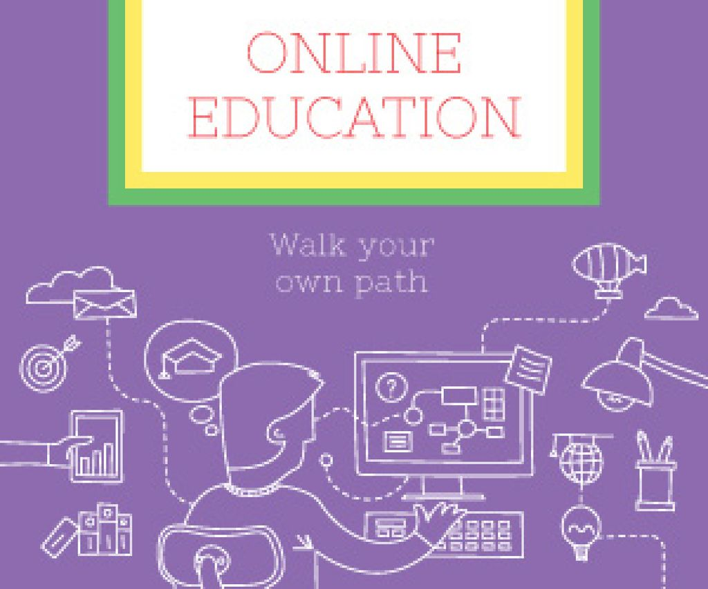 Online education poster — Створити дизайн
