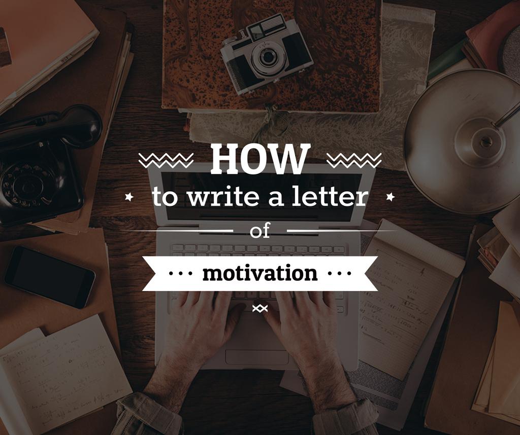 how to write a letter of motivation poster — ein Design erstellen