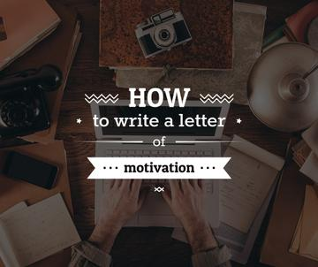 how to write a letter of motivation poster