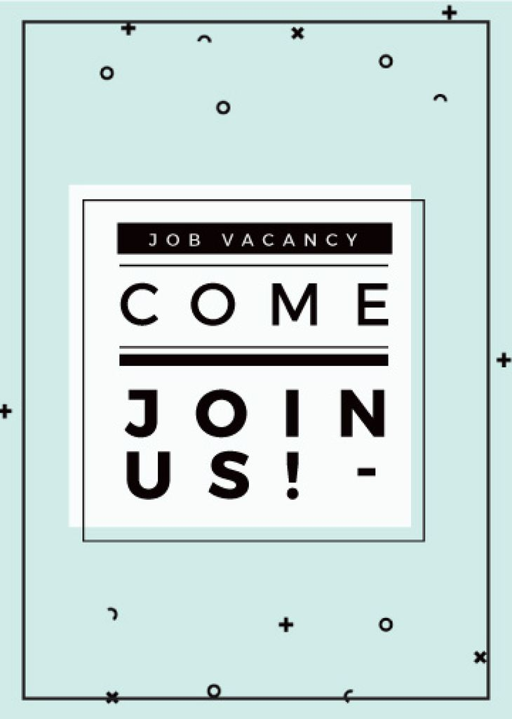 Job Vacancy Announcement in Blue — Créer un visuel