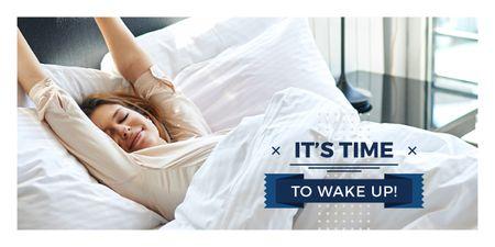 Ontwerpsjabloon van Image van Woman in Morning Bed
