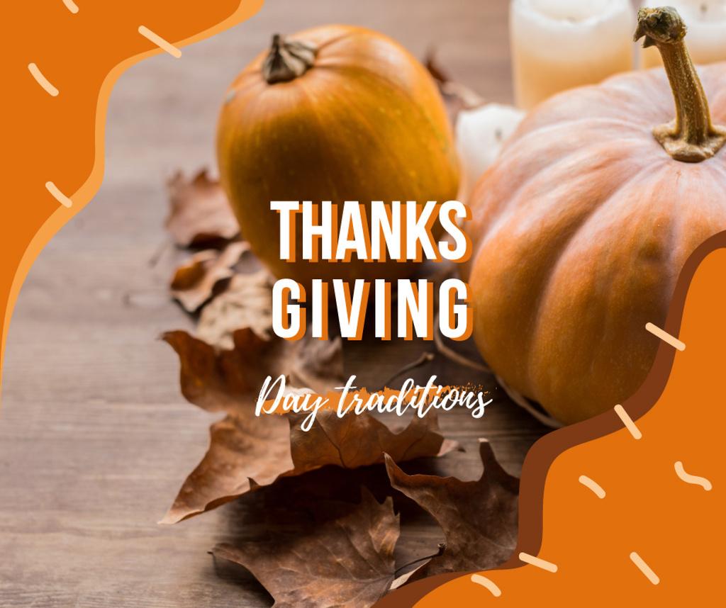 Autumn pumpkins and leaves — Créer un visuel