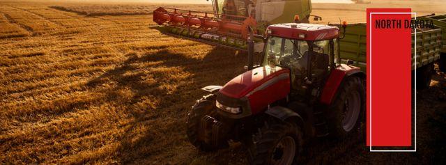 Farm wheat harvest Facebook cover Modelo de Design