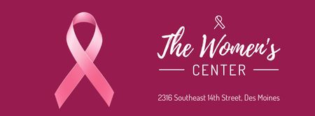 Szablon projektu Pink ribbon symbol for Women's Center Facebook Video cover