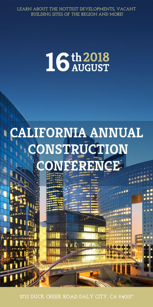 Annual construction conference announcement — Create a Design